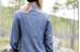 Klättermusen Lofn overhemd en blouse lange mouwen blauw